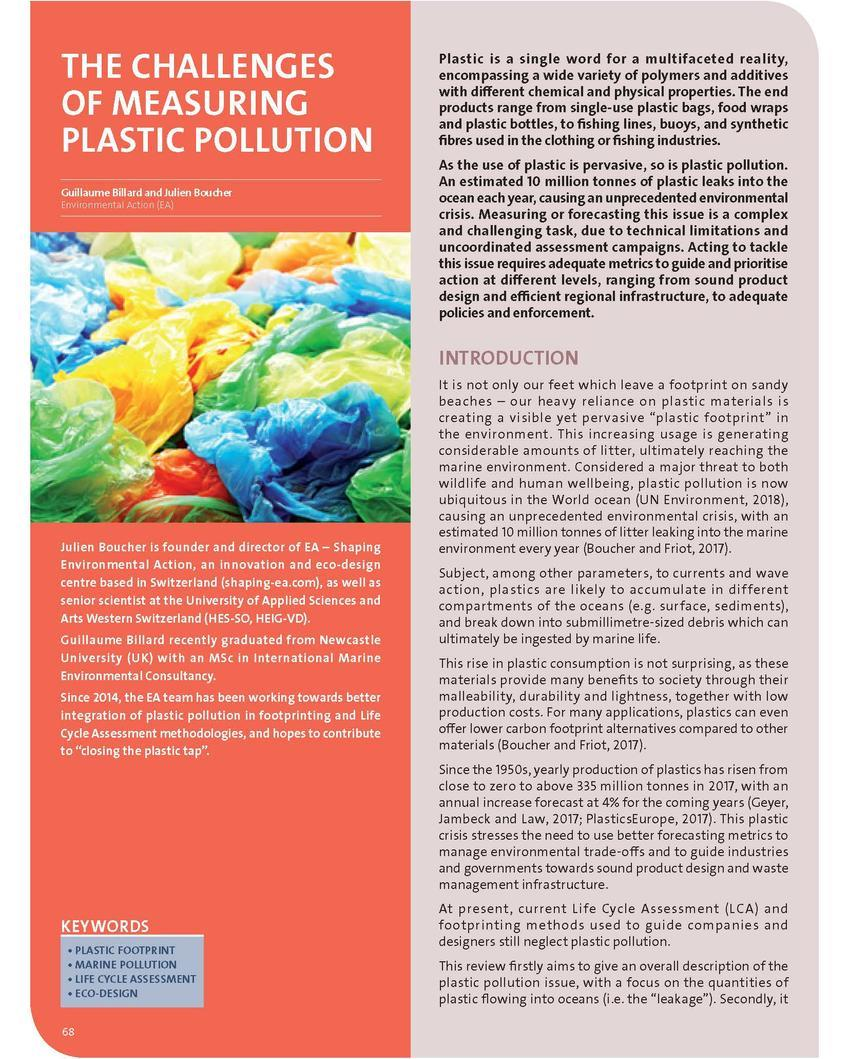 The challenges of measuring plastic pollution (378.08 KB)