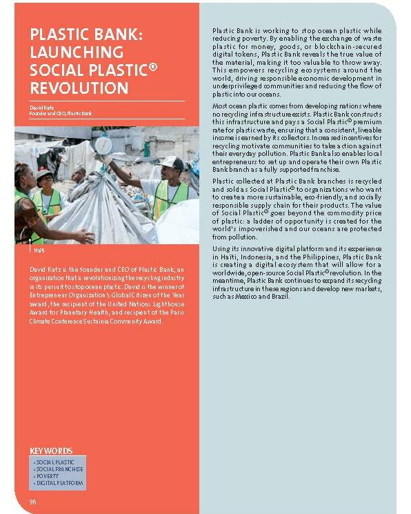 Plastic Bank: launching Social Plastic® revolution