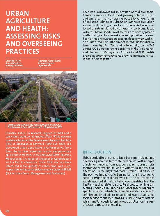 Urban agriculture and health: assessing risks and overseeing practices