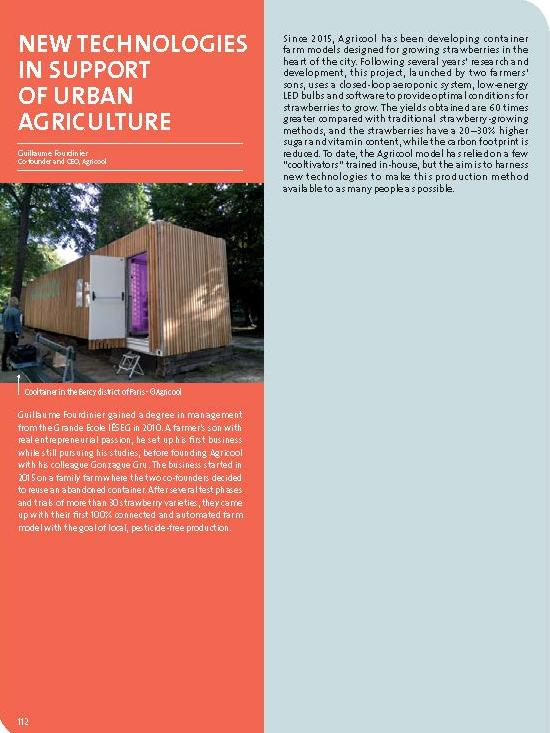 New technologies in support of urban agriculture