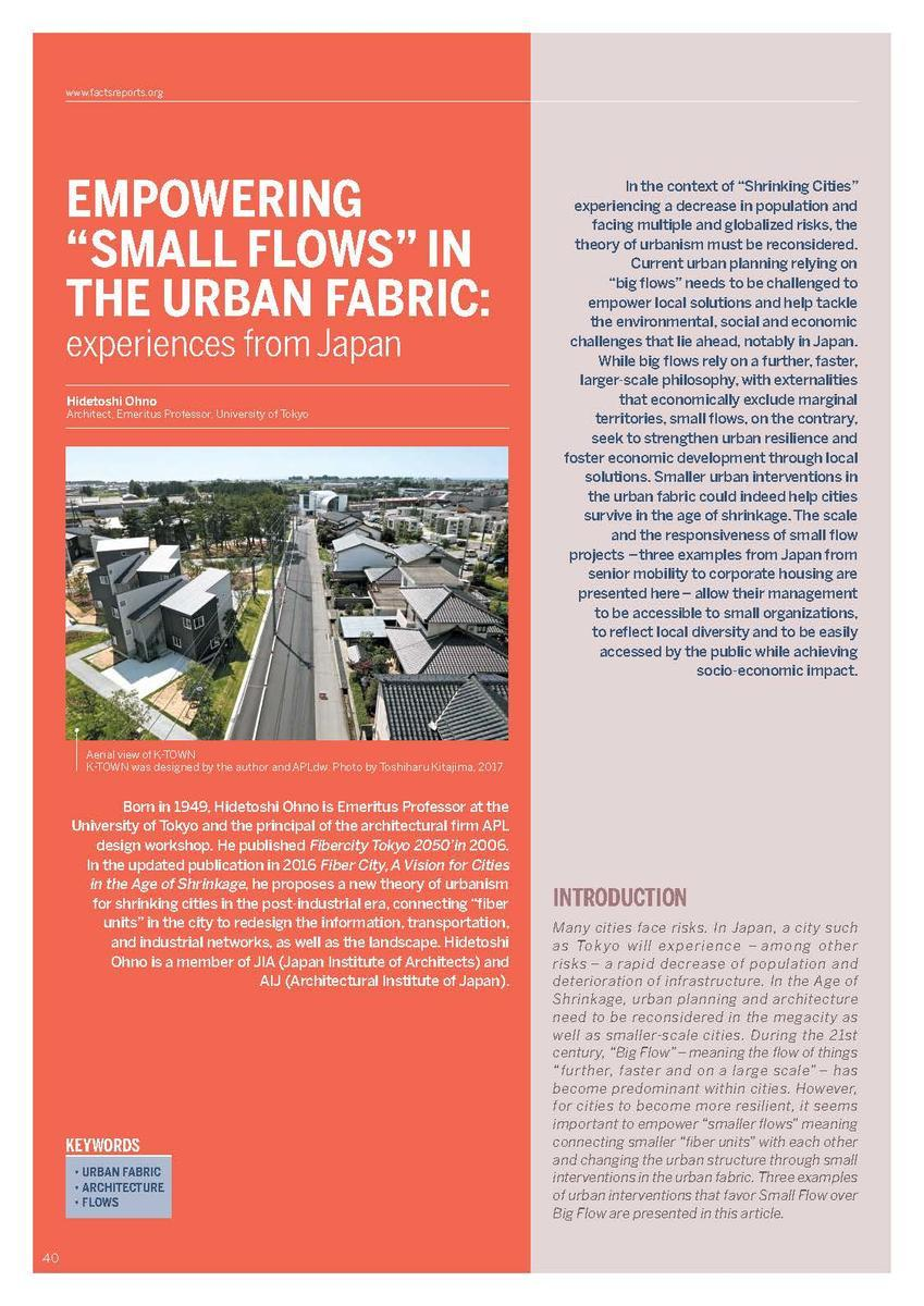 Empowering Small Flows in the urban fabric experiences from Japan