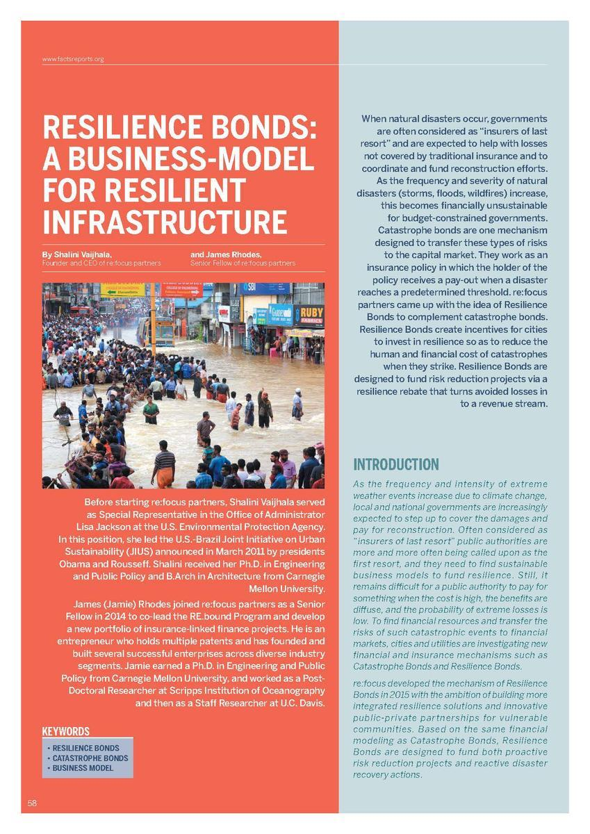 Resilience Bonds a business-model for resilient infrastructure