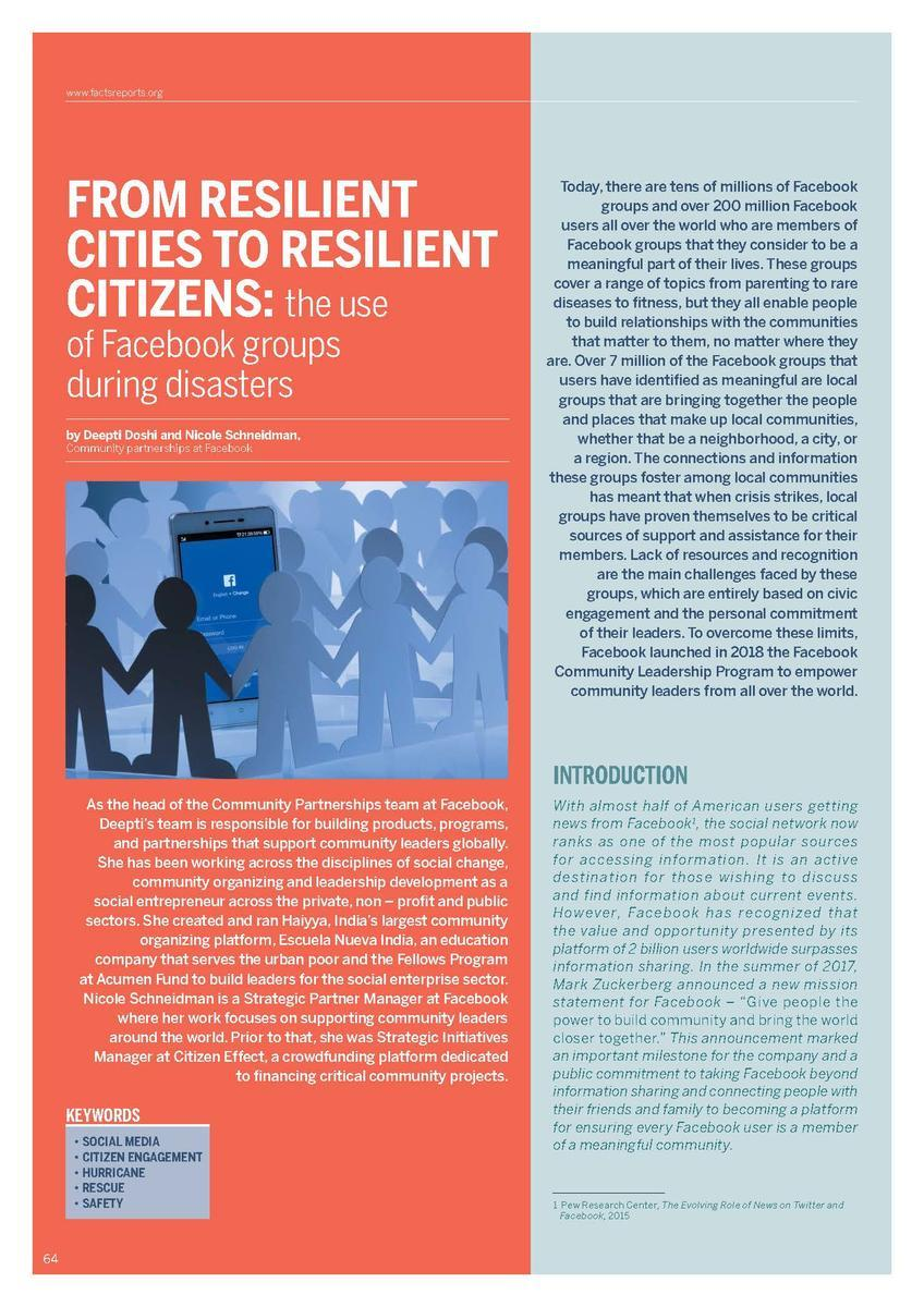 From resilient cities to resilient citizens