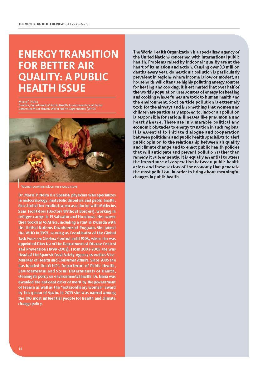 Energy transition for better air quality, a public health issue - Maria P. Neira